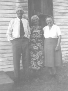 John, Nellie, Grace Parsonage