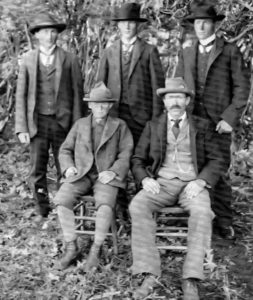 Lindner family: Back Row - Bill, John, Phil. Front Row: Barney, John Sr.