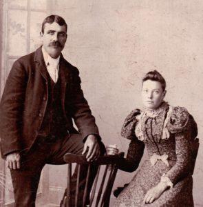 James and Catherine McKinnon wedding photo 1897